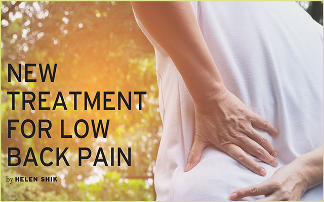New Treatment for Low Back Pain
